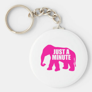 Just a minute. Pink Elephant Key Ring