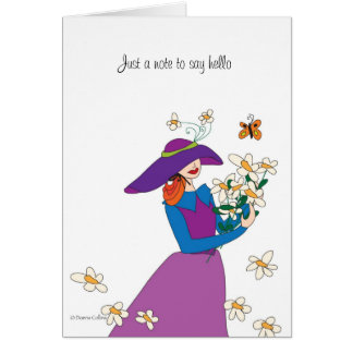 Just a note daisey girl card