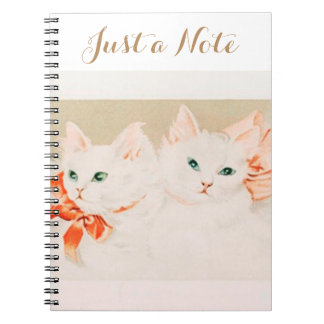 Just a note vintage kittens cat drawing cute notebooks
