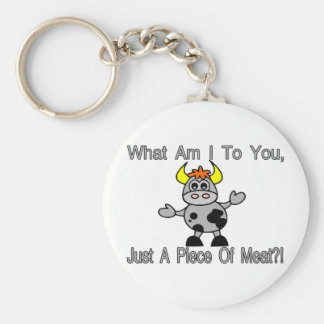 Just A Piece Of Meat Basic Round Button Key Ring