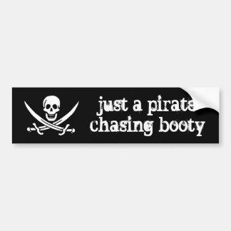 Just a Pirate Chasing Booty Bumper Sticker