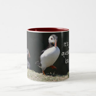 Just a question of balance puffin mug