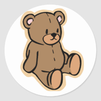 Just a Teddy Bear Round Sticker