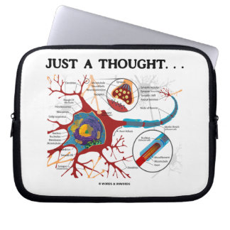 Just A Thought... (Neuron / Synapse) Laptop Sleeve