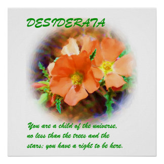"Just a ""Weed"" DESIDERATA Poster"