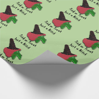 Just a Witch Trick or Treat Wrapping Paper