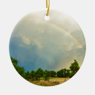 Just_Another_Colorado_Rainbow Round Ceramic Decoration
