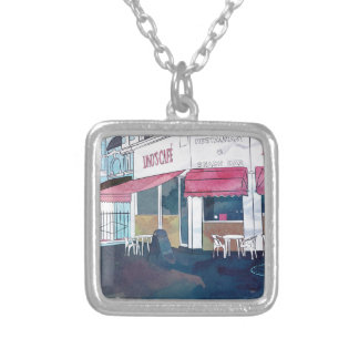 Just Another Day In Small Town Silver Plated Necklace