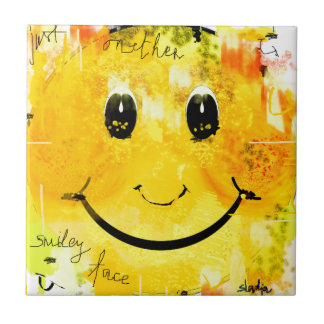 Just another smiley face small square tile