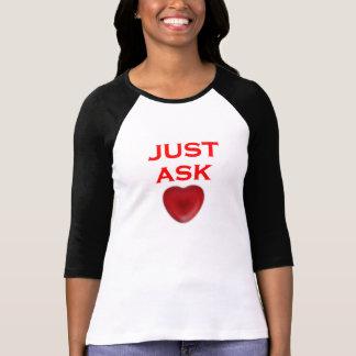 just ask ladies 3 4 sleeve raglan t-shirt