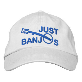 Just Banjos Cap with Blue Embroidery