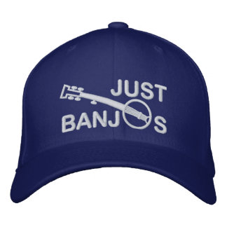 Just Banjos Cap with White Embroidery Baseball Cap