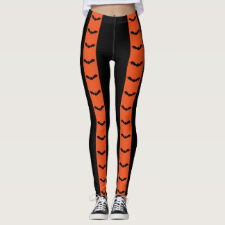 Just Batty Halloween Stripes Leggings