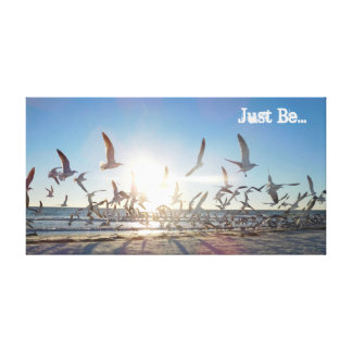 """Just Be"" Beach Peace Canvas"