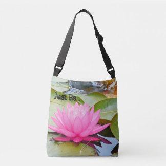 """""""Just Be"""" Lotus cross shoulder bag"""