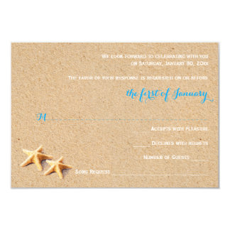 Just Beachy Wedding RSVP Template