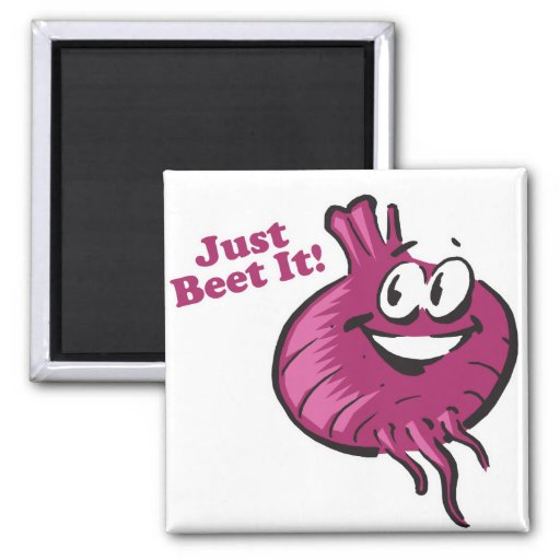 Just Beat Beet It Refrigerator Magnets