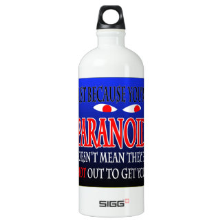 Just because you're paranoid water bottle. SIGG traveller 1.0L water bottle