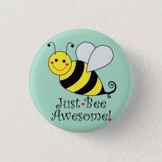 Just Bee Awesome Bumble Bee 3 Cm Round Badge