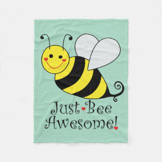 Just Bee Awesome Bumble Bee Fleece Blanket