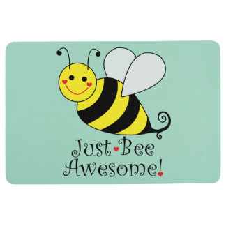 Just Bee Awesome Bumble Bee Floor Mat