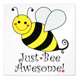 Just Bee Awesome Bumble Bee Magnetic Invitations
