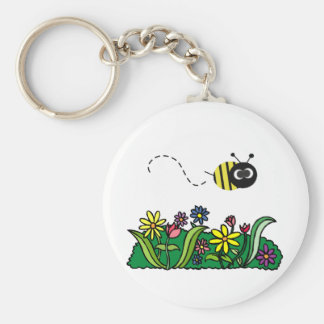Just Bee Basic Round Button Key Ring
