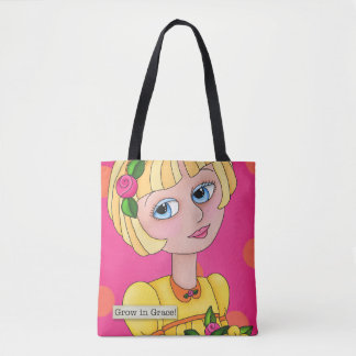"""Just Bee 'n Me Girls"" All Over Print Tote Bag"