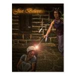 """Just Believe"" Cinderella and Fairy Postcard"