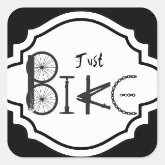 """Just Bike"" Graffiti from Bike Parts & Tire Tracks Square Sticker"