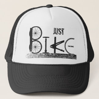 Just Bike Parts Word Graffiti Urban Design Trucker Hat