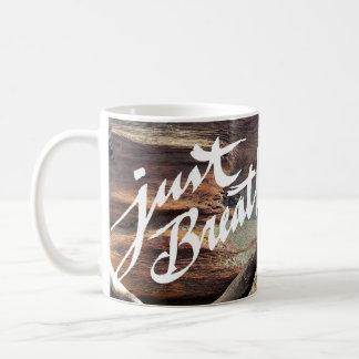 Just Breathe - beach mug