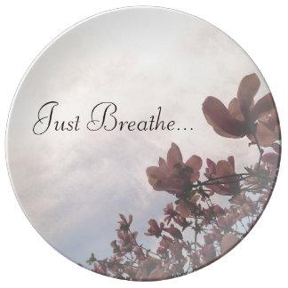 Just Breathe Decorative Plate Porcelain Plates