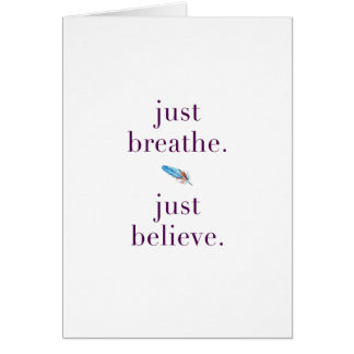 Just Breathe Encouragement Blank Card