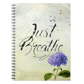 Just Breathe - Flower Blue Notebooks