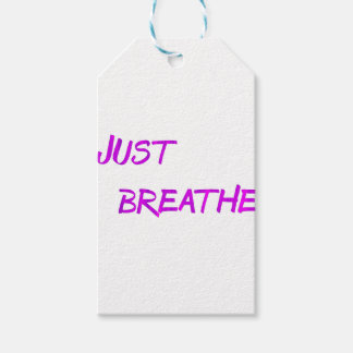 Just breathe. gift tags