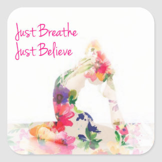 Just Breathe Gift Wrapping Series Square Sticker