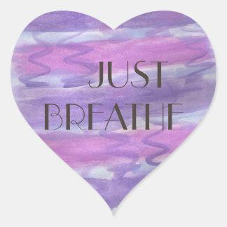 Just Breathe Mantra Sticker