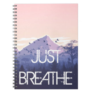 Just Breathe Mountain Design Notebook