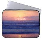 Just Breathe Ocean Sunset Laptop Sleeve