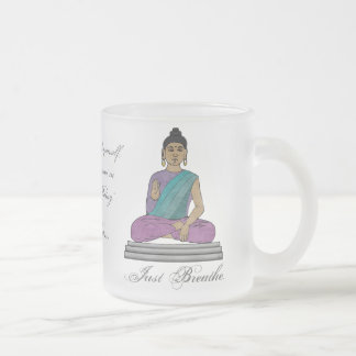 Just Breathe (Personalized Frosted Glass Mug) Frosted Glass Coffee Mug