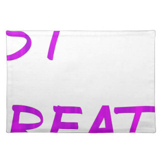 Just breathe. placemat