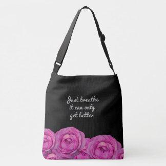 Just Breathe Roses Tote Bag