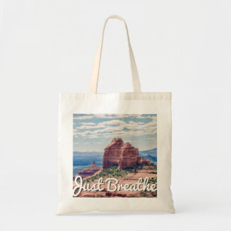 Just Breathe Sedona Background | Tote Bag