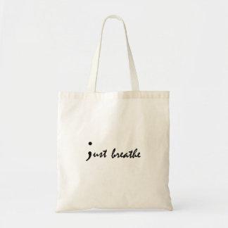 Just Breathe Semicolon Mental Health Awareness Bag