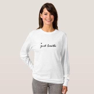 Just Breathe Semicolon Mental Health Awareness T-Shirt