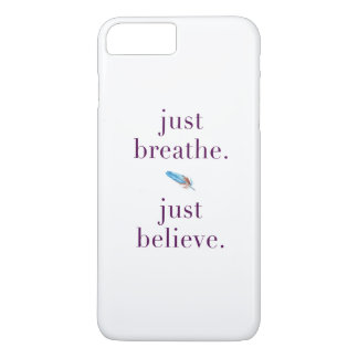 Just Breathe Tribal Feather Yoga Phone Case
