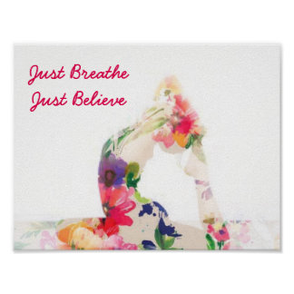 Just Breathe Yoga Poster