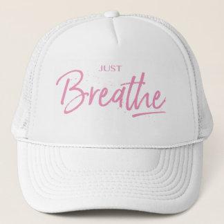 Just Breathe, Yoga, Zen Quote Trucker Hat