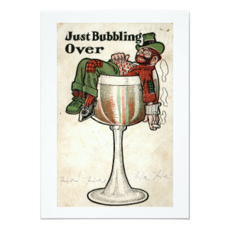Just Bubbling Over Party Vintage Card